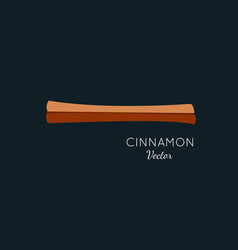 Cinnamon flat style icon vector