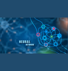 concept neural system science unfocused vector image