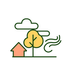 countryside rgb color icon vector image