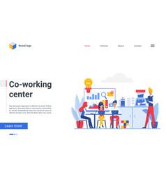 coworking center workplace people work with vector image