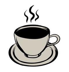cup of hot drink icon cartoon vector image