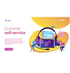 Customer self-service concept landing page vector