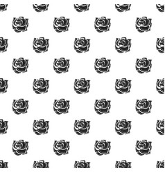 decorative rose pattern seamless vector image
