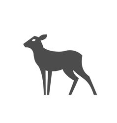 Deer feminine without horns monochrome vector