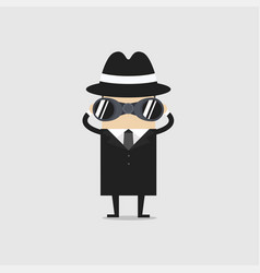 Detective with binocular vector