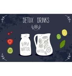 Detox drink vector