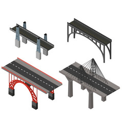 different design for bridges vector image