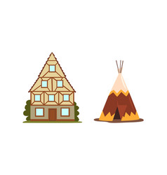 Different house or dwelling from around world vector