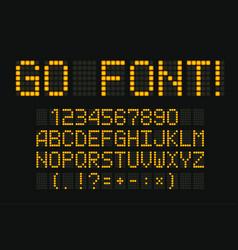 digital font for led board scoreboard clock vector image