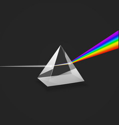 dispersion colorful spectrum light experiment vector image