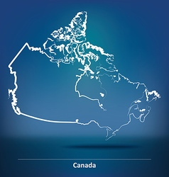 Doodle Map of Canada vector image