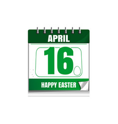 Easter calendar catholic easter 2017 vector