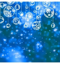 Elegant blue christmas background EPS 8 vector image