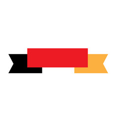 empty ribbon with the colors of germany vector image