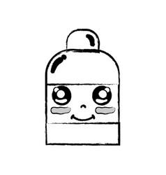 Figure kawaii cute happy ointment pharmaceutical vector