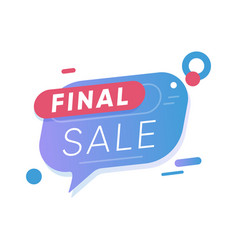 final sale sticker market badge design vector image
