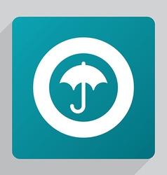 flat umbrella icon vector image