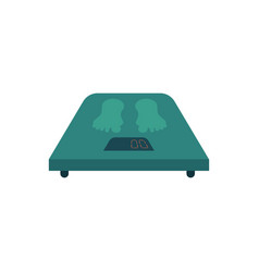 Flat weight scales icon vector