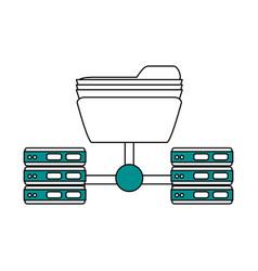 Folder and servers design vector