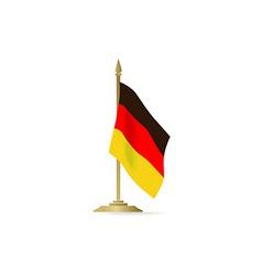 German flag stant on white space vector image vector image
