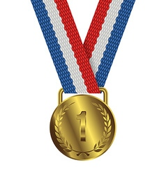 Gold Medal Isolated on White Background vector image