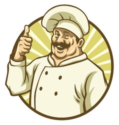 Good chef thumb up vector