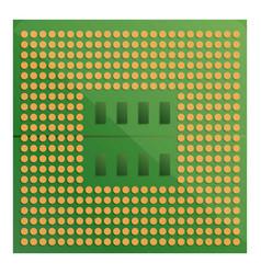 Gpu processor icon cartoon style vector