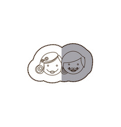 Happy couple thogether icon vector