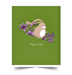 happy holiday easter day card vintage egg vector image