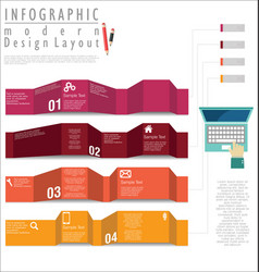 infographic modern design template 3 vector image