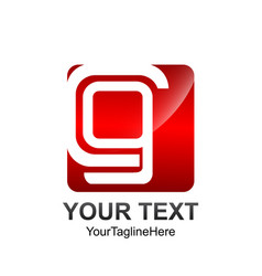 Initial letter cg logo template colored red vector