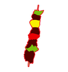 isolated skewer icon vector image