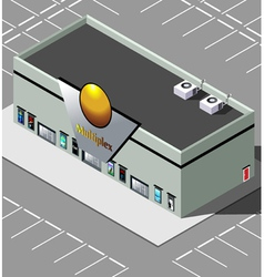 Isometric Movie Theater vector image