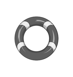 Lifeline icon black monochrome style vector