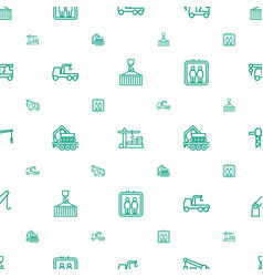 Lift icons pattern seamless white background vector