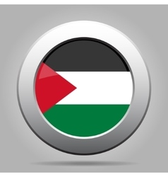 Metal button with flag of Palestine vector