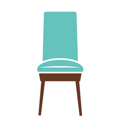 minimalistic blue chair vector image