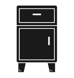 Modern nightstand icon simple style vector