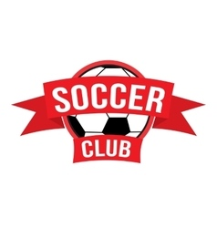 New soccer club logo vector image