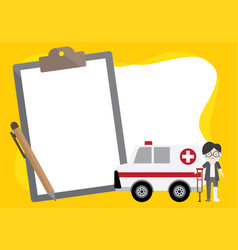 object about hospital doctor and insurance vector image