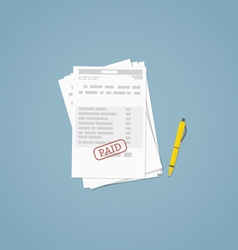 Paid invoice vector image