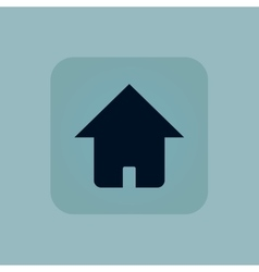 Pale blue home icon vector image