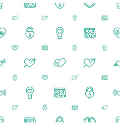 Passion icons pattern seamless white background vector