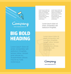 Pen nib business company poster template with vector