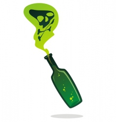Poison bottle vector