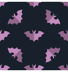 Seamless bat background tile halloween pattern vector image
