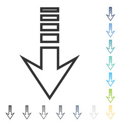 Send down icon vector
