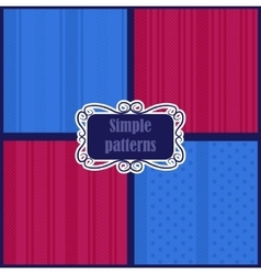 Simple striped patterns vector image