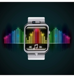 smartwatch technology design vector image