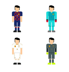 Soccer player in club kits vector